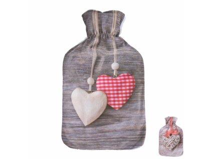 Termofor zahřívací láhev Srdce, 1,6 l