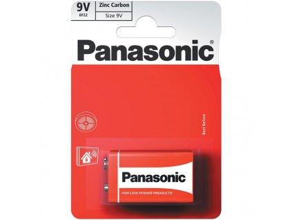 Baterie zinkouhlíková Panasonic 9V, 6F22, blistr 1 ks
