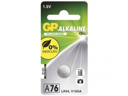 Baterie alkalická GP LR44, A76F, blistr 1ks