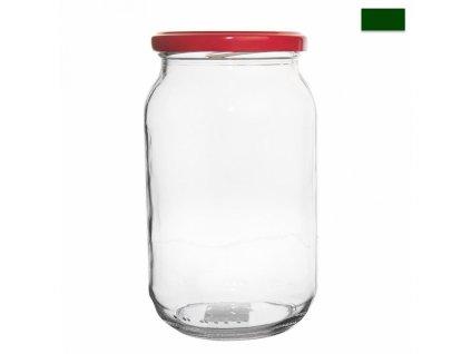 Zavařovací sklenice s víčkem, 0,9 l