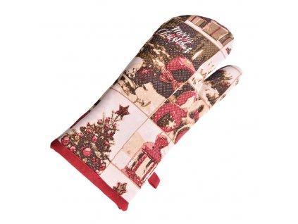 Kuchyňská chňapka Vánoce, 32 cm