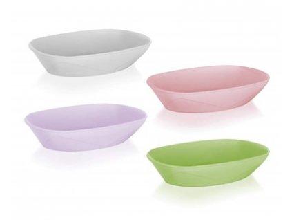 BANQUET Miska plastová oválná CANDY 17 x 11,5 x3,5 cm, mix barev