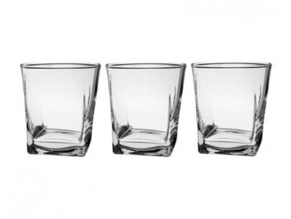 PASABAHCE Sada sklenic na whisky CARRE 310 ml, 3 ks, OK