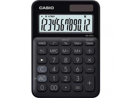 Kalkulačka Casio MS 20 UC BK - černá