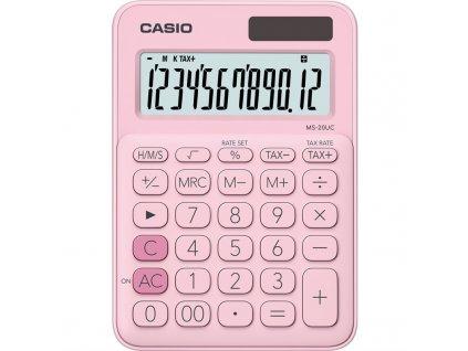 Kalkulačka Casio MS 20 UC PK - světle růžová