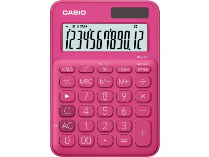 Kalkulačka Casio MS 20 UC RD - růžová