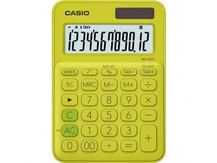 Kalkulačka Casio MS 20 UC YG - žlutá