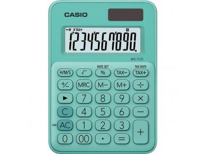Kalkulačka Casio MS 7 UC GN - zelená