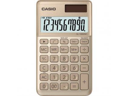 Kalkulačka Casio SL 1000 SC GD - zlatá