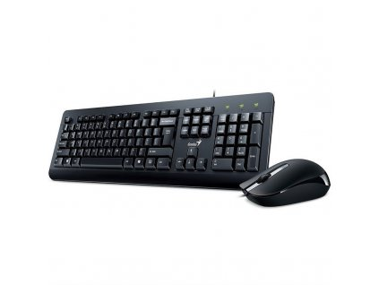 Klávesnice s myší Genius KM-160, CZ+SK layout - černá