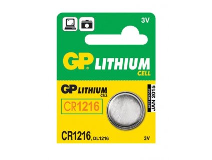Baterie lithiová GP CR1216, blistr 1ks