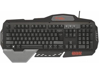 Klávesnice Trust GXT 850 Metal Gaming - černá