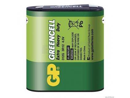 Baterie zinkochloridová GP Greencell 3R12 (4,5V), folie1 ks