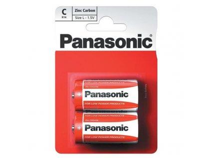 Baterie zinkouhlíková Panasonic C, R14, blistr 2ks