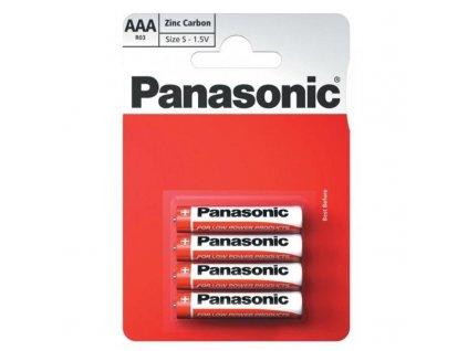 Baterie zinkochloridová Panasonic AAA, R03, blistr 4ks