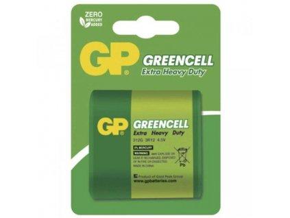Baterie zinkochloridová GP Greencell 4,5V, 312G, blistr 1ks