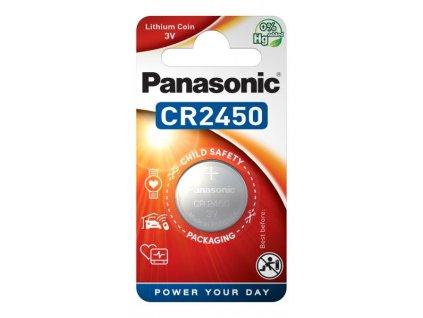 Baterie lithiová Panasonic CR2450, blistr 1ks