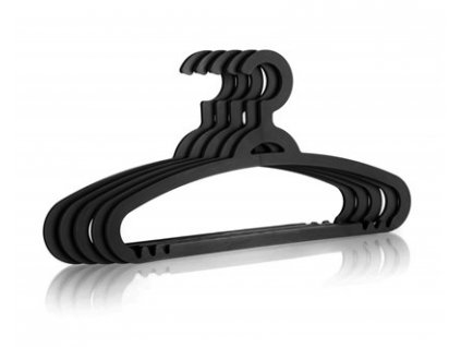 BRILANZ Sada plastových ramínek, 5 ks, černé