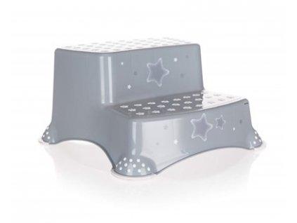 KEEEPER Stolička - dvojschůdek STARS 40 x 37 x 21 cm, šedá