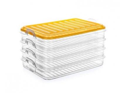 BANQUET Sada plastových stohovatelných dóz EASY CLICK 4 x 0,75 l, 4 ks