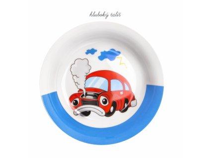 Sada jídelní porc. dětská AUTO 3 ks