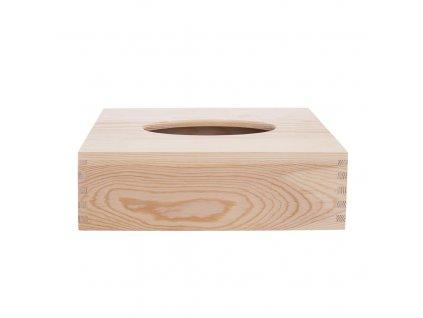 Box dřevo na papírové kapesníky NATURAL