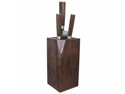 Stojan na nože dřevo štětiny WOODEN