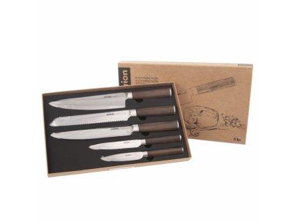 Nůž kuchyňský nerez WOODEN sada 5 ks