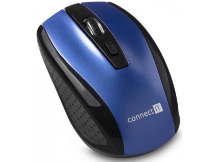 Myš Connect IT CI-1225 / optická / 4 tlačítka / 1600dpi - modrá