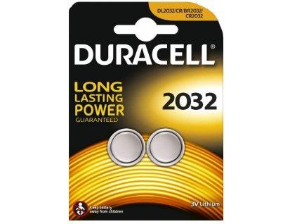 Baterie lithiová Duracell CR2032, blistr 2ks