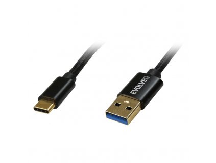 Kabel Evolveo USB 3.2/USB-C, 1m - černý