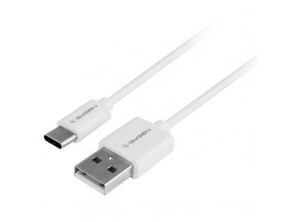 Kabel GoGEN USB / USB-C, 0,5m - bílý