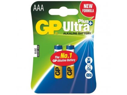 Baterie alkalická GP Ultra Plus AAA, LR03, blistr 2ks
