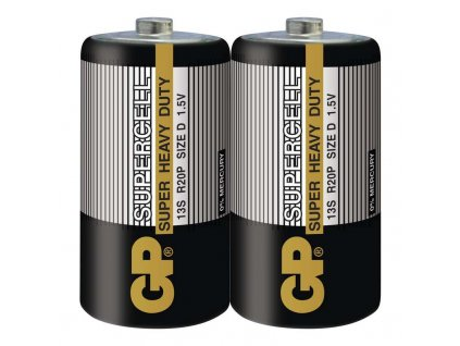 Baterie GP Supercell D, R20, fólie 2ks