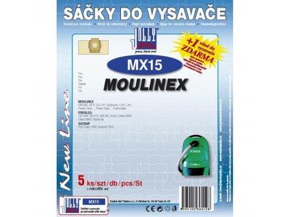 Sáčky do vysavače Jolly MX 15 (5+1ks) do vysav. MOULINEX