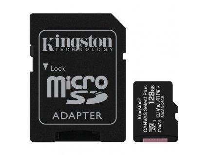Paměťová karta Kingston Canvas Select Plus MicroSDXC 128GB UHS-I U1 (100R/10W) + adapter