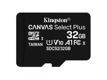 Paměťová karta Kingston Canvas Select Plus MicroSDHC 32GB UHS-I U1 (100R/10W)
