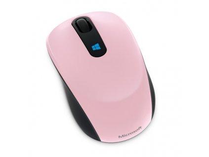 Myš Microsoft Sculpt Mobile /BlueTrack / 3 tlačítka / 1000dpi - růžová