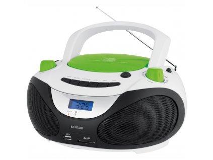 Radiopřijímač s CD Sencor SPT 3228, bílý/zelený