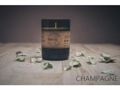 vinna sojka sojova svicka champagne