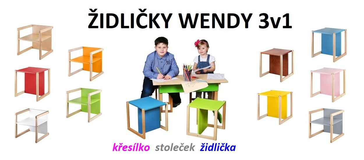 Dětská židle WOOD PARTNER WENDY 3v1