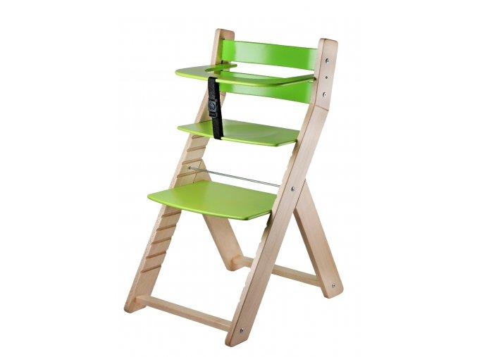 Rostoucí židle WOOD PARTNER LUCA - 001, lak/růžová