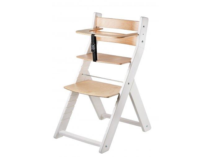 Rostoucí židle WOOD PARTNER LUCA BÍLÁ LAK