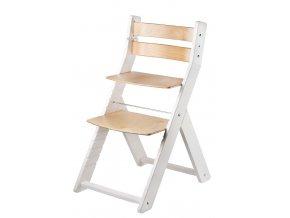 Rostoucí židle WOOD PARTNER SANDY BÍLÁ LAK