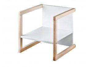 Dětská židle WENDY 3v1 bílá křeslo