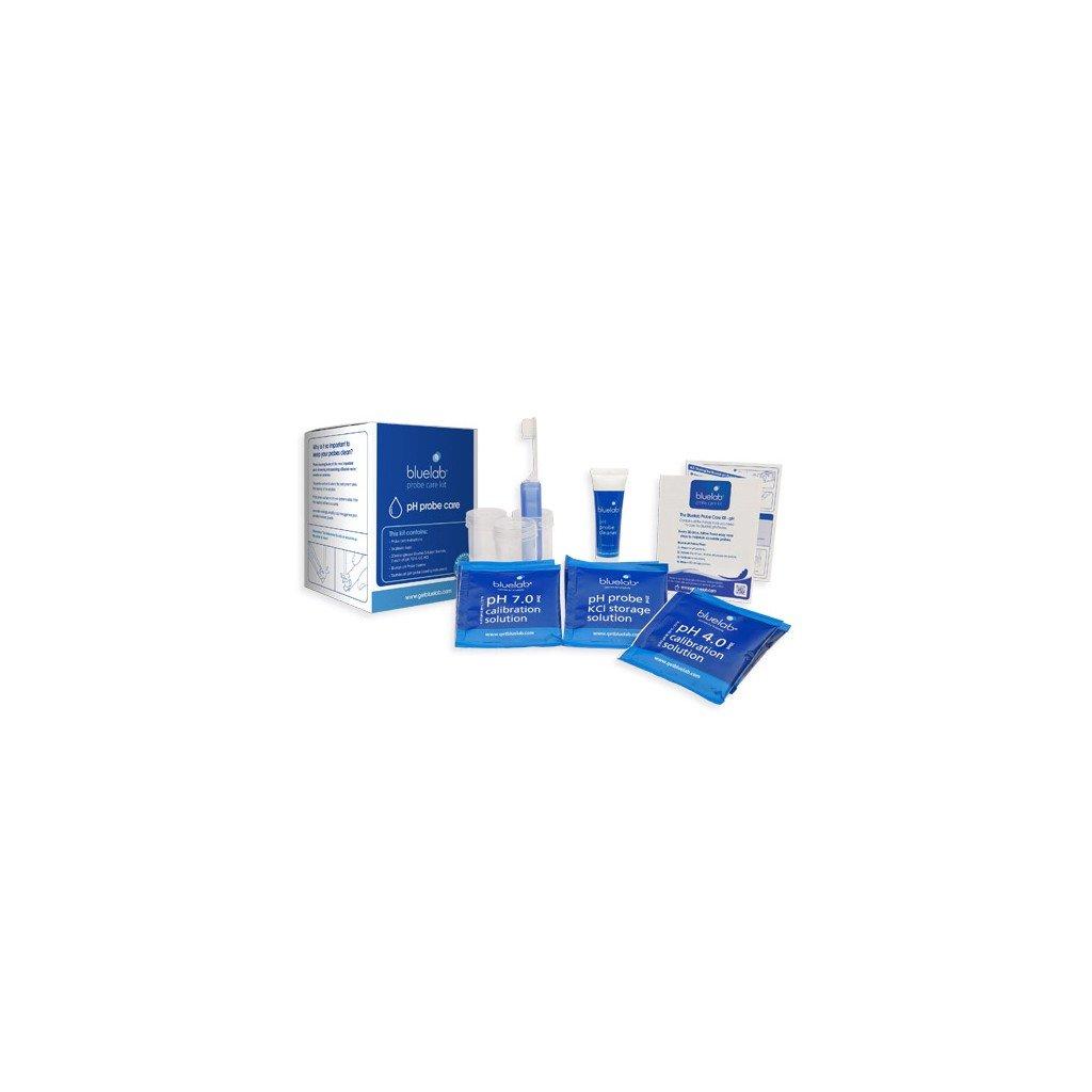 BlueLab - Kalibrační a čisticí balení (pH 4 500ml, pH 7 500ml, čisticí roztok, kartáček)
