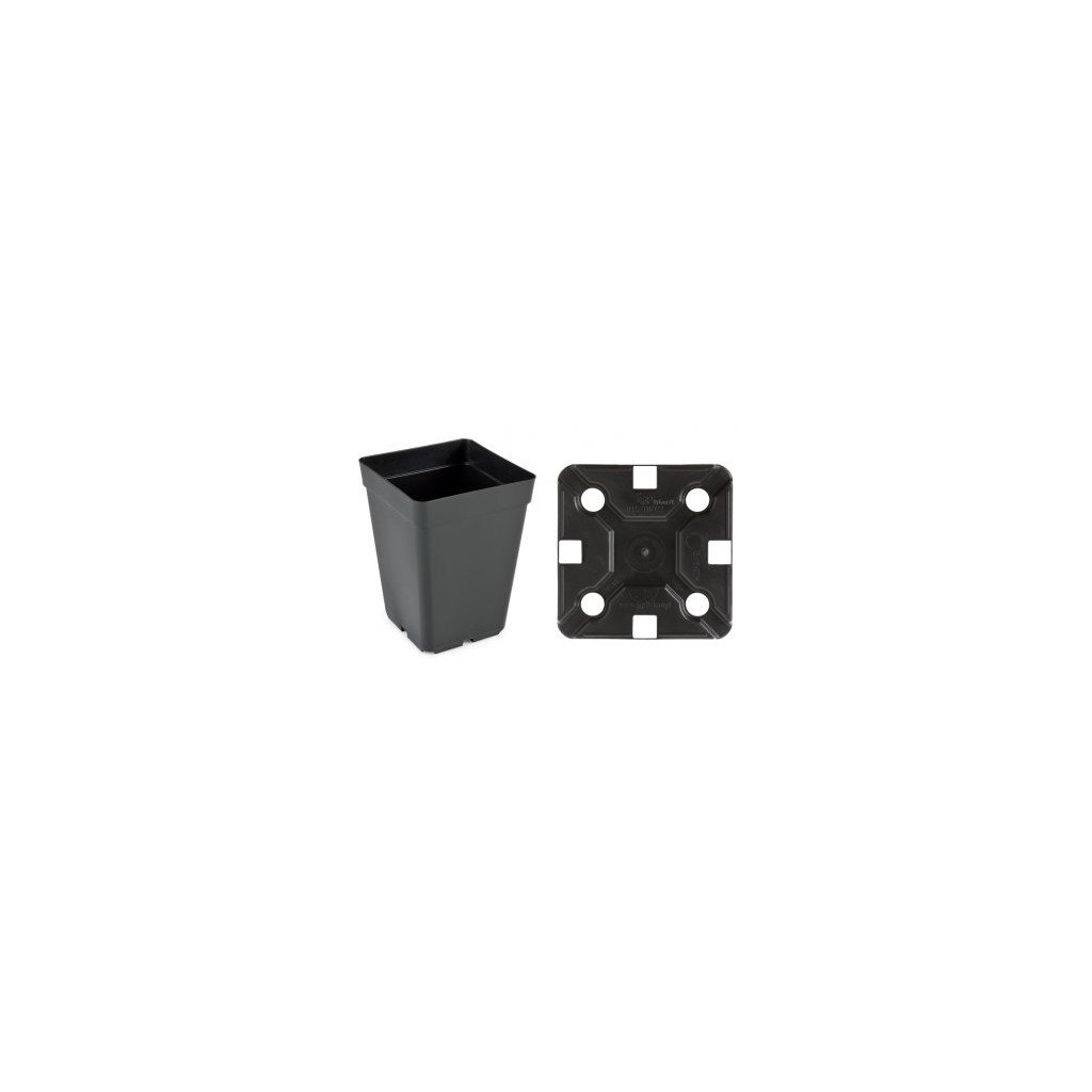 Květináč 15 x 15 x 20 H black 3,15 l