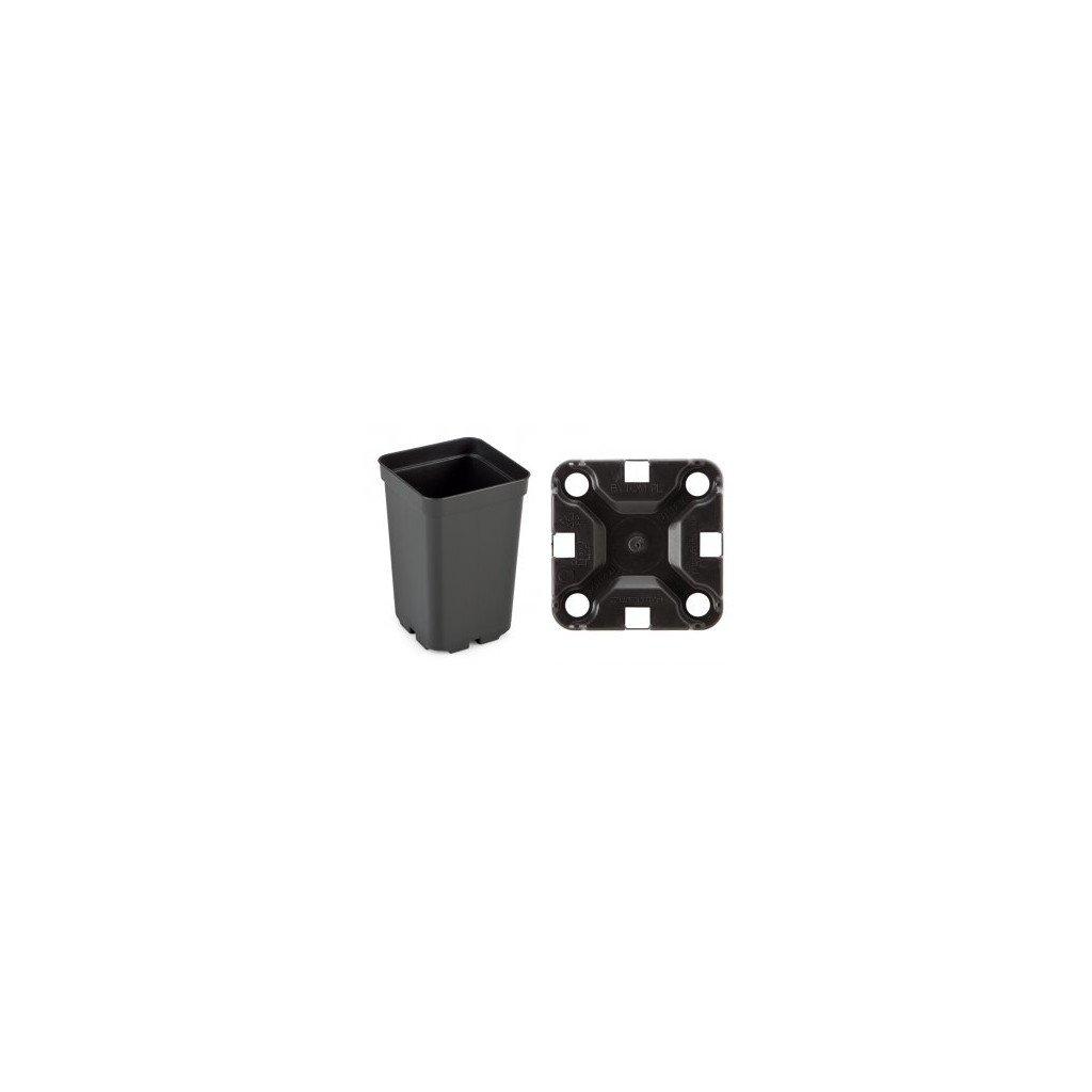 Květináč 9 x 9 x14 H 0,8 l black