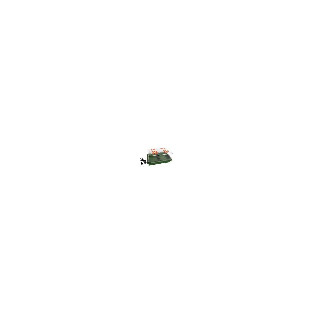 Skleník s vytápěním 38x25x19, s ventil. klapkami