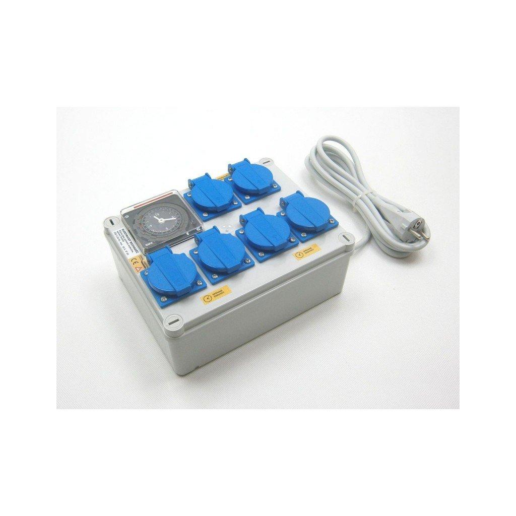 Rozvaděč 4+2 (230 V) ovladané hodinama